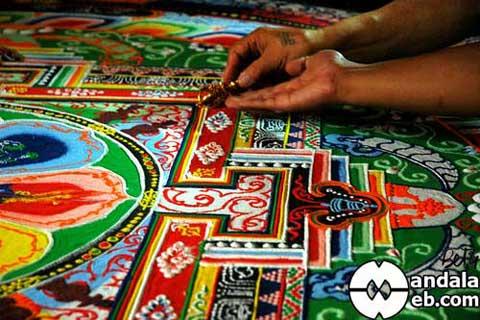 Mandala de arena tibetano
