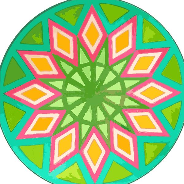 Mandala sencilla para colorear fácil