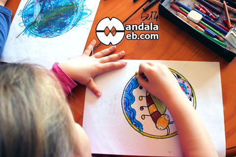Colorearndo mandalas para niños