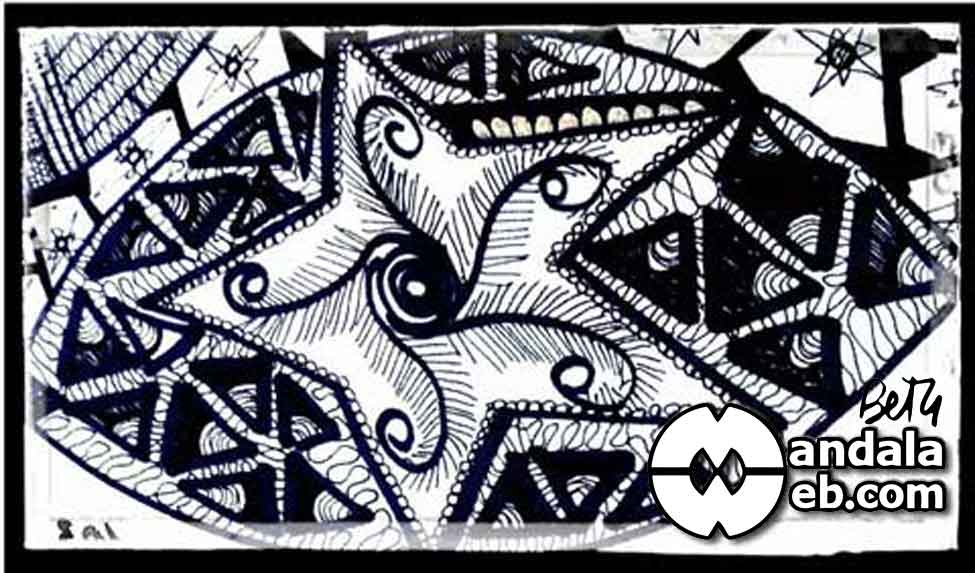 Qué es un Zendale- Zentangle Art con mandalas
