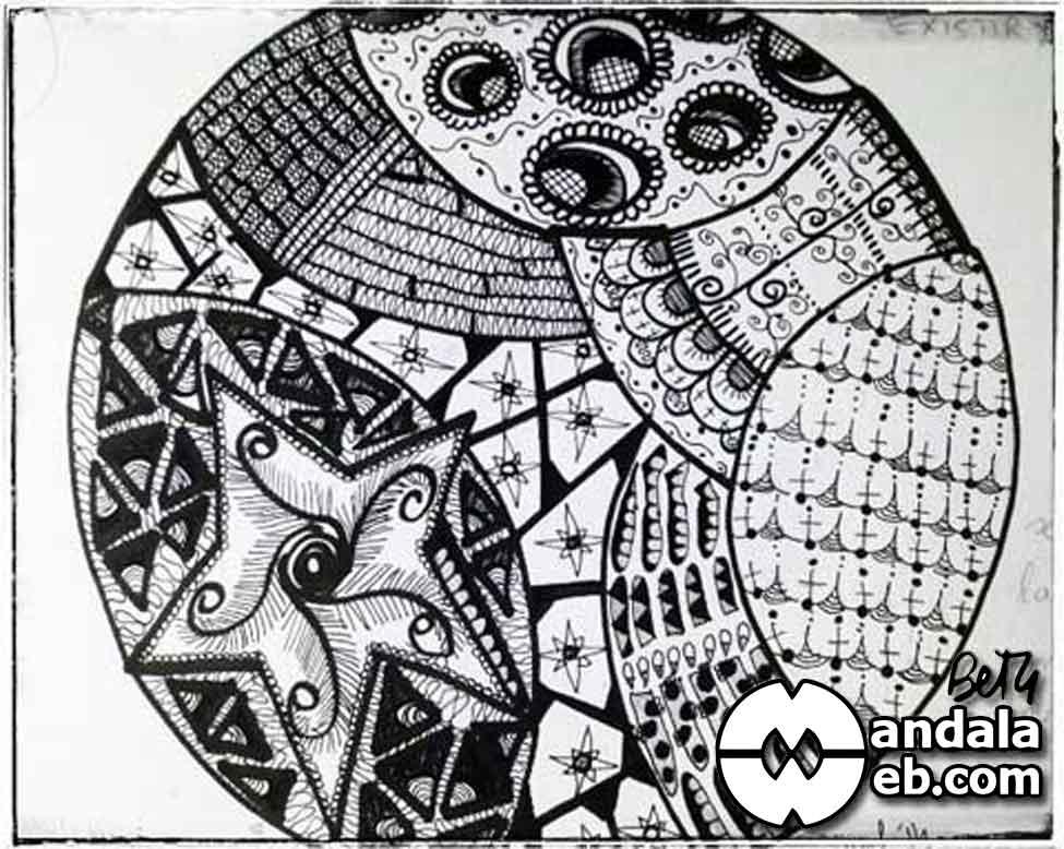 Mandala Zendala. Arte Zentagle.
