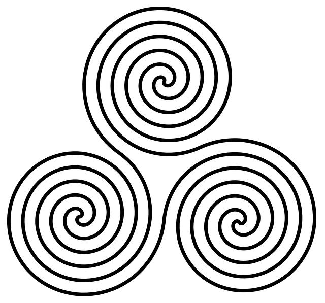 3 espirales de la simbología celta