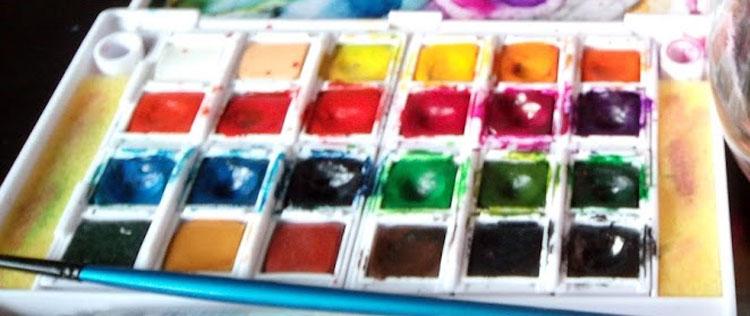 con que colorear mandalas acuarelas