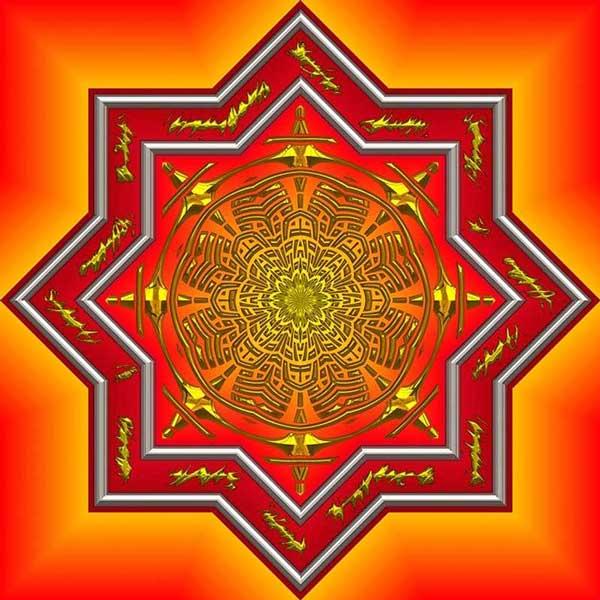 mandala para la meditación.
