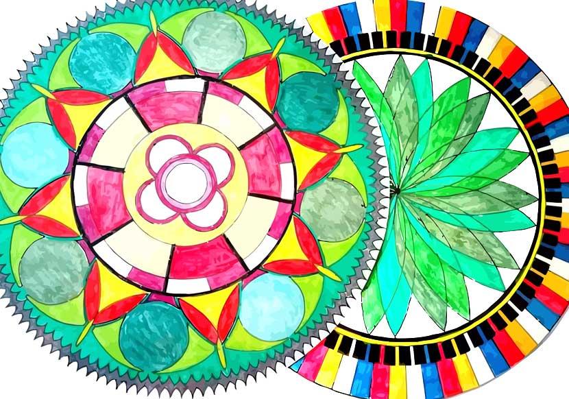 mandalas para colorear pintados
