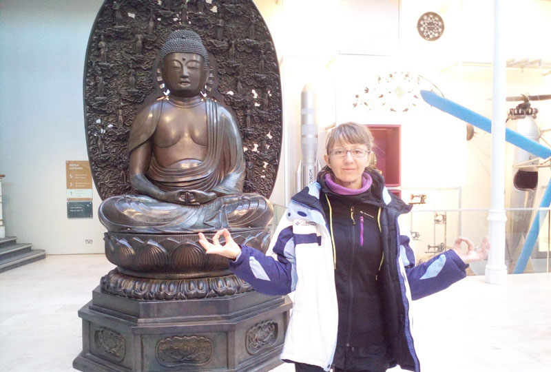 Meditando con Buda en Edinburgo