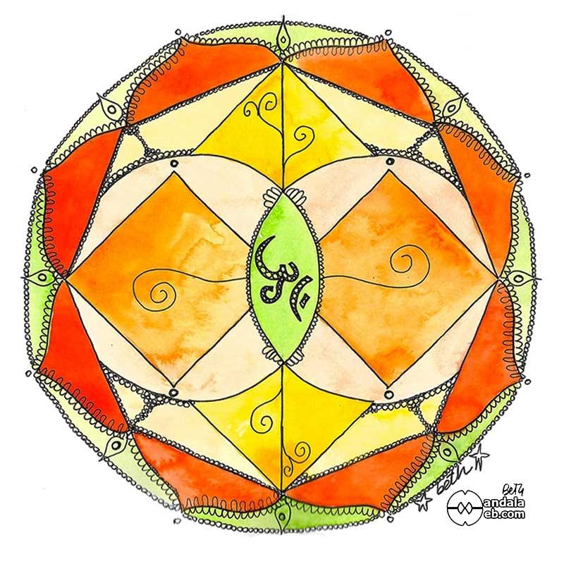 mandalas originales pintados meditación