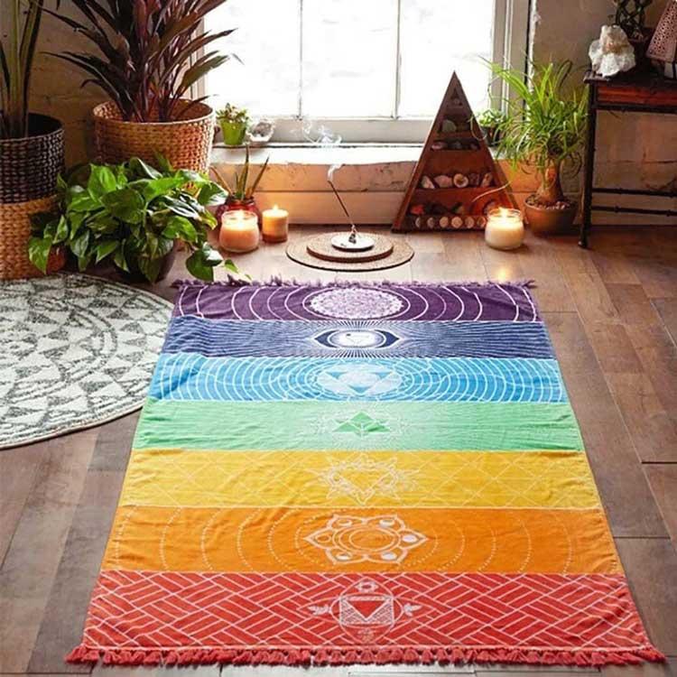 Toalla rectangular chakras ideal yoga