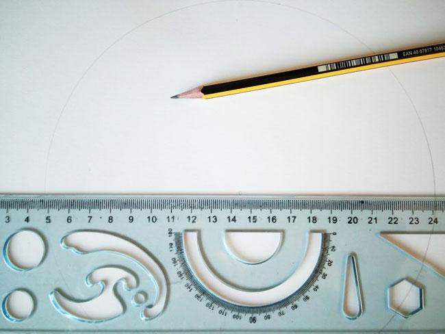 Reglas y tranportadores para dibujar un mandala