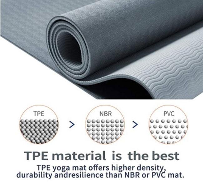 TPE material de esterilla de yoga
