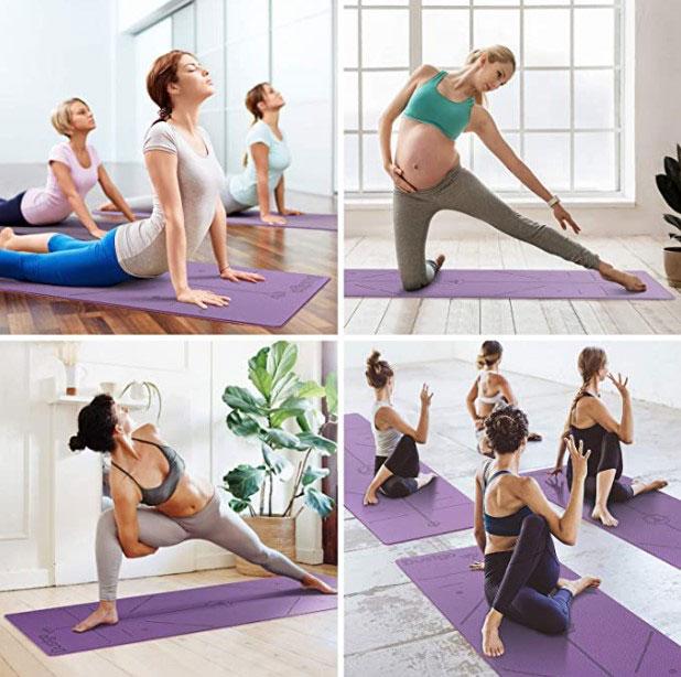 Colchonetas de yoga compartidas en clase