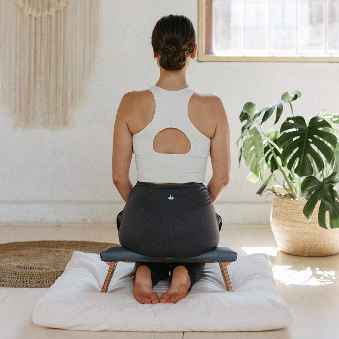 Banco de meditación para yoga