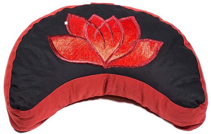 Cojín de media luna flor de loto meditación
