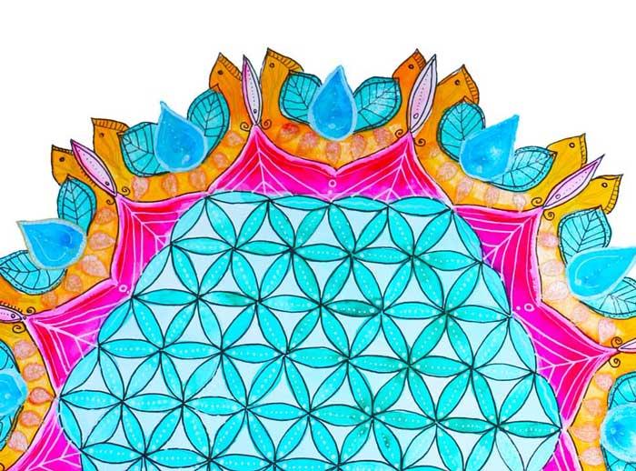 Modelo geométrico flor de la vida